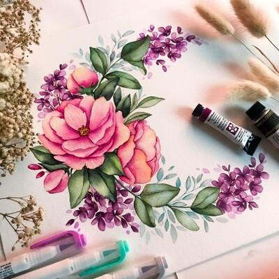 Floral Illustration Watercolor Workshop / 3 October