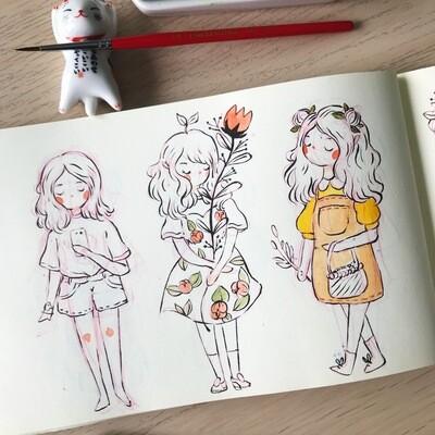 Cute Character Doodle Workshop /26 Sept