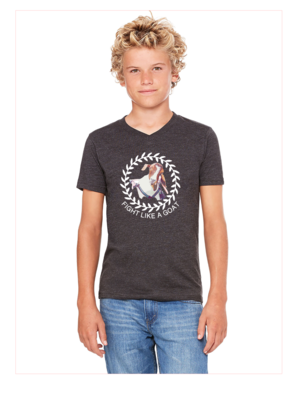 Fight Like a Goat BELLA+CANVAS Youth V-Neck Tee