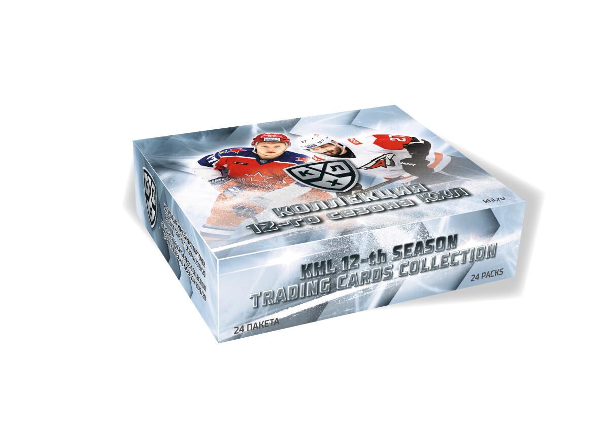 Коллекция хоккейных карточек 12-го сезона КХЛ 2019/20 -бокс 24 упаковки