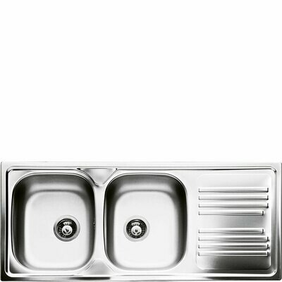 Smeg - double bowl sink