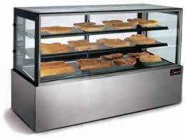 Display unit - heated, floor standing