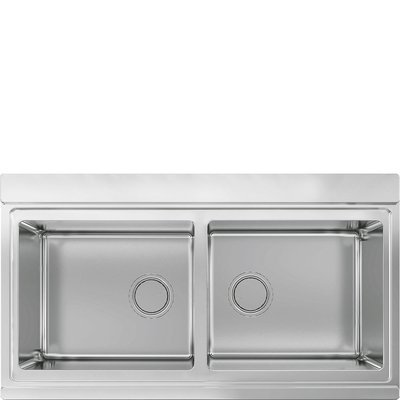 Smeg - Double bowl inset sink