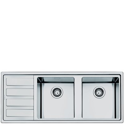 Smeg double bowl inset sink