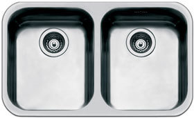 Smeg double bowl undermount sink