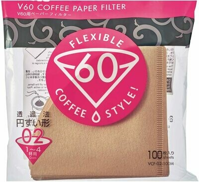 HARIO VCF-02 V60濾杯專用濾紙 (100入/無漂白) V60 Coffee Paper Filter
