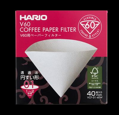 HARIO VCF-01 V60濾杯專用濾紙 (40入) V60 Coffee Paper Filter