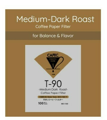Cafec T-90 Medium Dark Roast Coffee Paper Filter