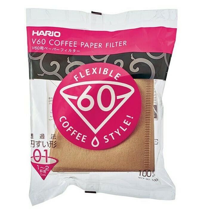 HARIO VCF-01-100M V60濾杯專用濾紙 (100入/無漂白) V60 Coffee Paper Filter