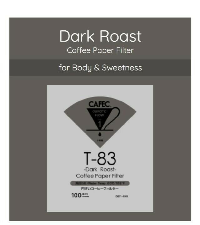 Cafec T-83 Dark Roast Coffee Paper Filter