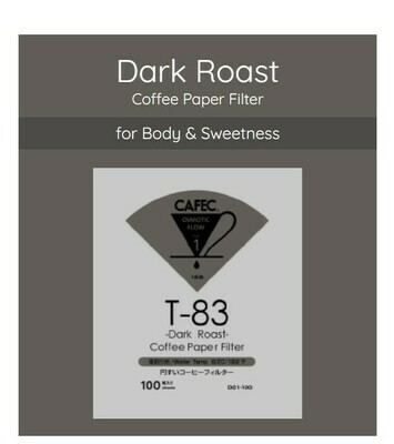 Cafec T-83 Dark Roast Coffee Paper Filter