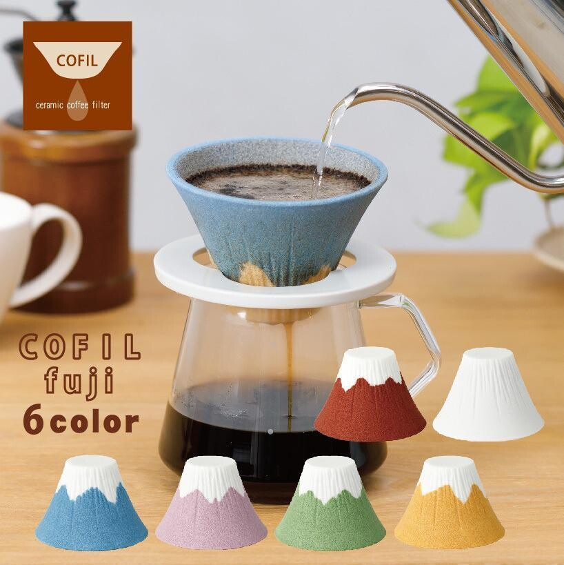 SANCERA 139 COFIL fuji 富士山 陶瓷免濾紙 咖啡濾杯 波佐見燒