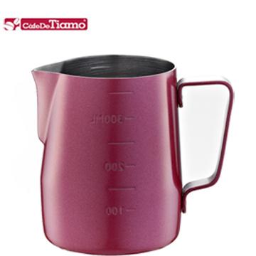 Tiamo (HC7086RD) 1311 專業內外刻度不鏽鋼不沾塗層拉花杯 (360mL)