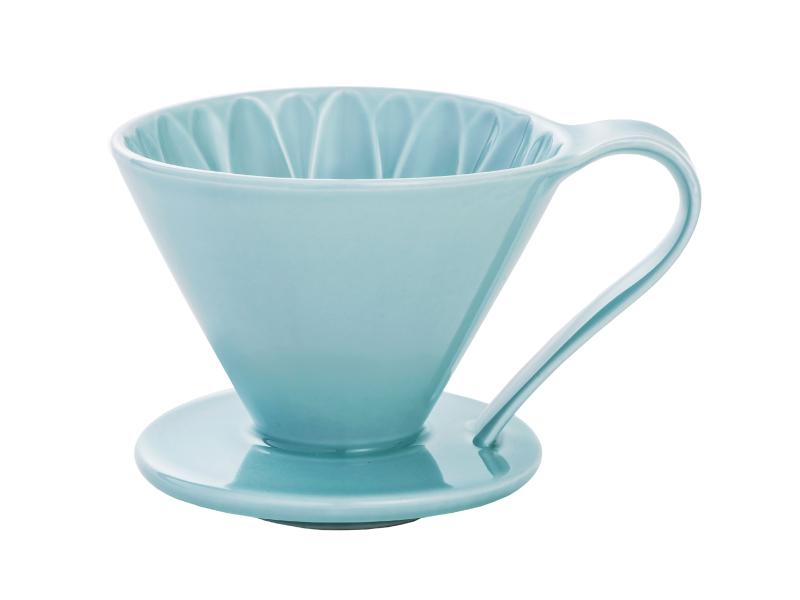 日本 CAFEC CFD-4BL 三洋 有田焼 葵花 花形陶瓷濾杯 (藍/1-4杯用)