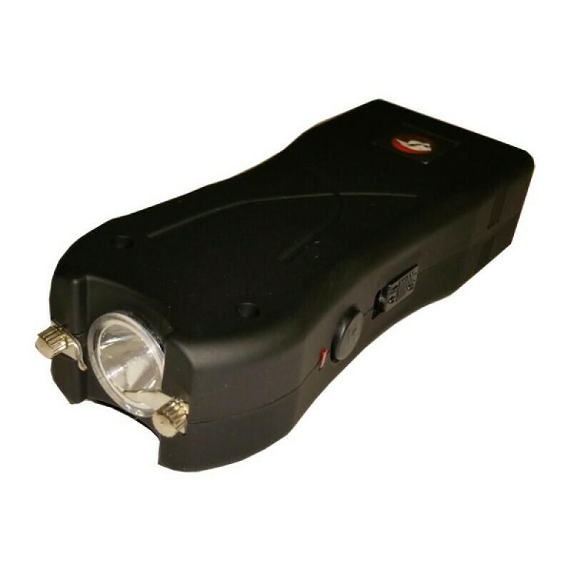 Black 20 million volt Stun Gun with Safety Pin