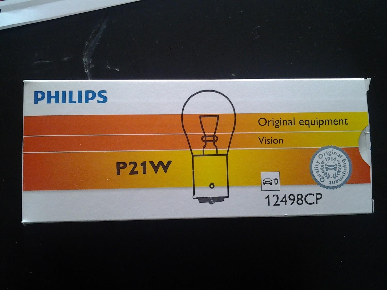 Lampadina Philips Vision P21W