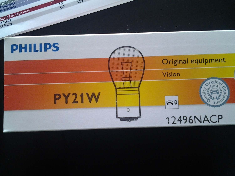 Lampadina Philips PY21W Vision