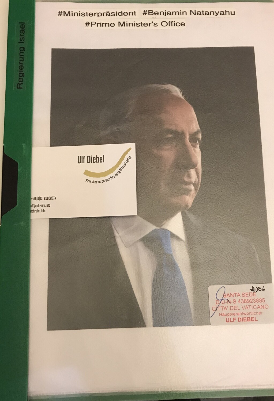 Ministerpräsident von Israel Benjamin Netanyahu