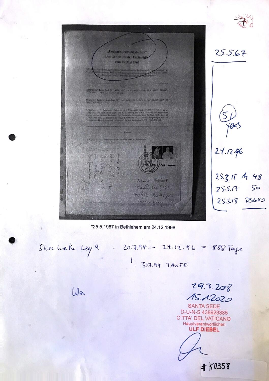 """#K0358 l Eucharisticum Mysterium - """"Das Geheimnis der Eucharistie"""" l 25.Mai 1967"""