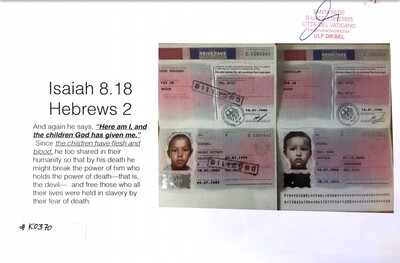 #K0370 l Passports Daughter of Zion and Daughter of Jerusalem