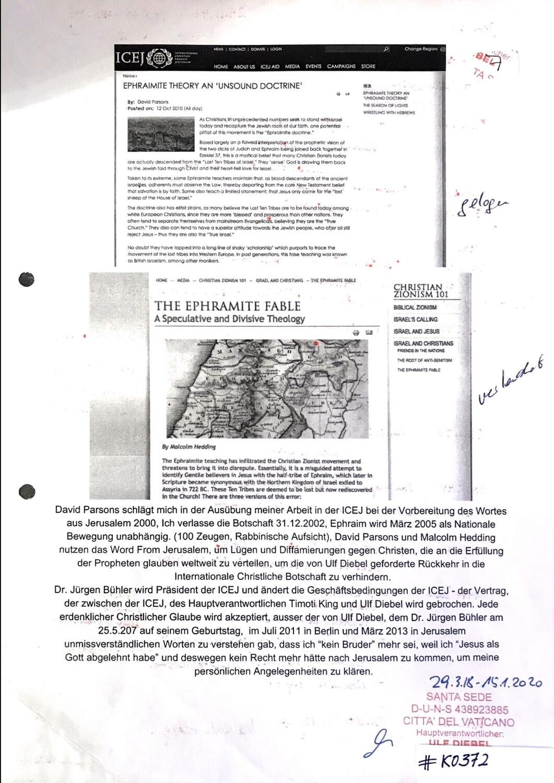 #K0372 l Ephraimite Theory an 'Undsound Doctrine' - ICEJ l The Ephramite Fable - Christian Zionism 101