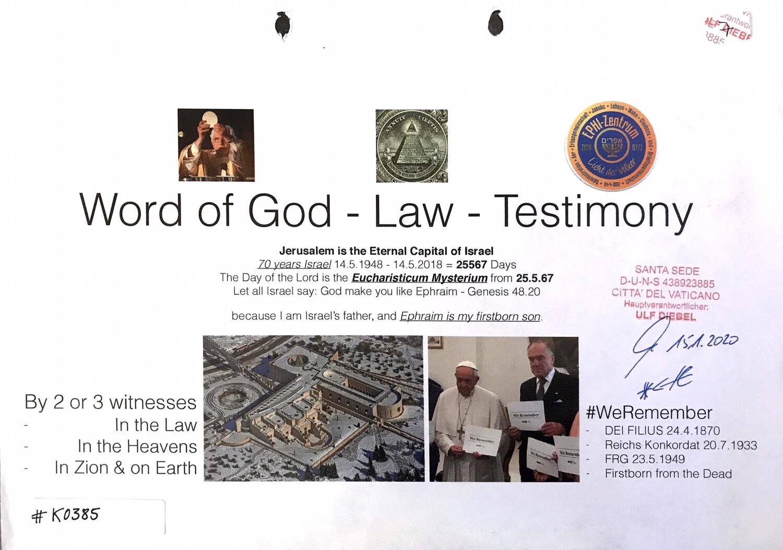 #K0385 l Word of God - Law - Testimony