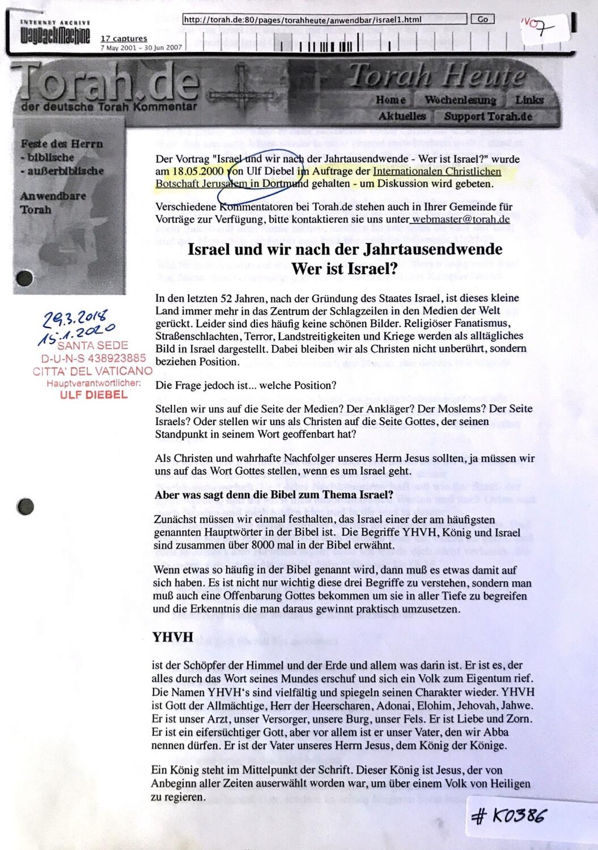 #K0386 l Torah.de - Israel und wir nach der Jahrtausendwende - Wer ist Israel?