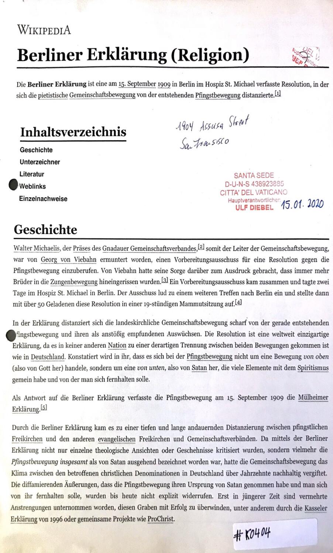 #K0404 l Berliner Erklärung (Religion)