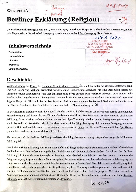 #K0405 l Berliner Erklärung (Religion)