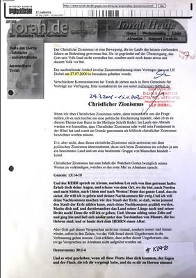 #K0410 l Torah.de - Christlicher Zionismus