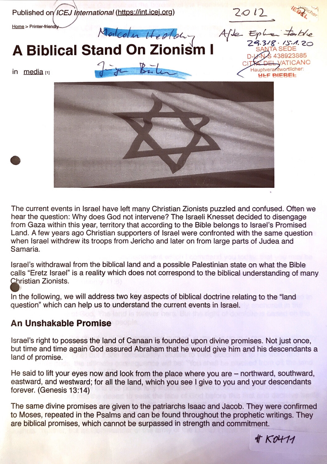#K0411 l A Biblical Stand On Zionism - Published on ICEJ International