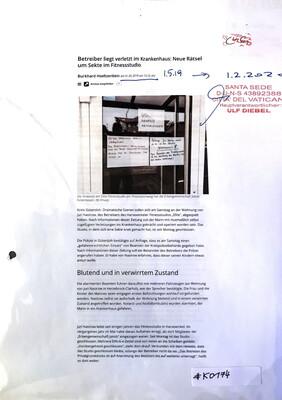 #K0174 l Betreiber liegt verletzt im Krankenhaus: Neue Rätsel um Sekte im Fitnessstudio