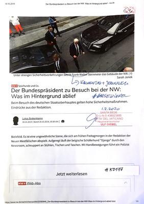 #K0177 l Neue Westfälische l Der Bundespräsident zu Besuch bei der NW: Was im Hintergrund ablief