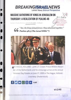 #K0197 l Breaking Israel News - Massive gathering of Kings in Jerusalem on Thursday: A Realization of Psalms 48