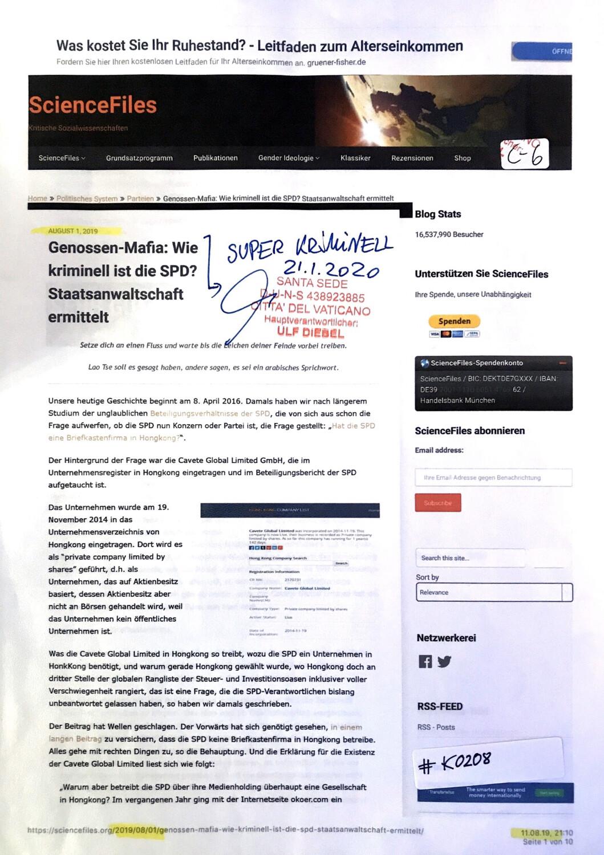 #K0208 l Genossen - Mafia: Wie kriminell ist die SPD? Staatsanwaltschaft ermittelt