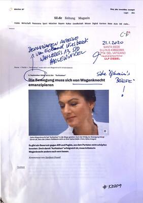 #K0209 l Sz.de l Die Bewegung muss sich von Wagenknecht emanzipieren