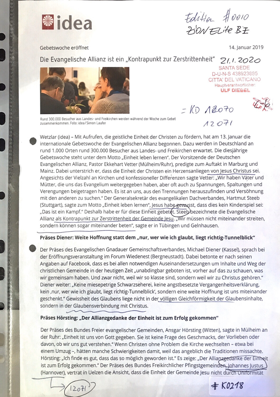 """#K0218 l Die Evangelische Allianz ist ein """"Kontrapunkt zur Zerstrittenheit"""""""