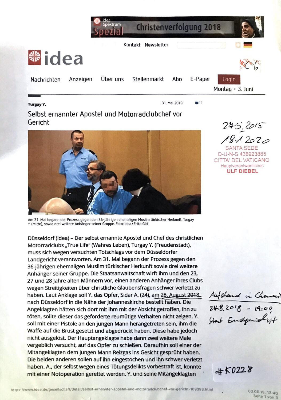#K0228 l idea - Selbst ernannter Apostel und Motorradclubchef vor Gericht