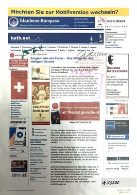 #K0230 l kath.net - Zungen wie von Feuer - Das Pfingsten des Heiligen Geistes