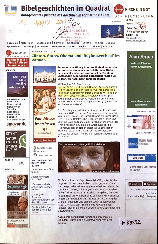 "#K0232 l Clinton, Sorros, Obama und ""Regimewechsel"" im Vatikan"