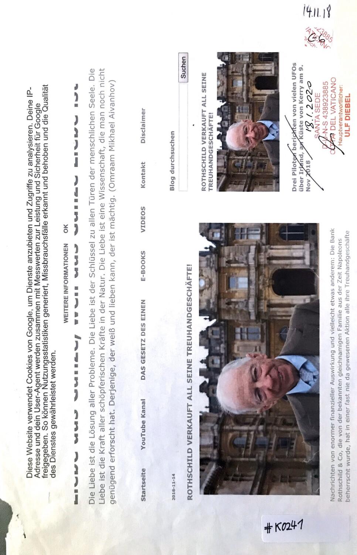 #K0241 l Rothschild verkauft all seine Treuhandsgeschäfte!