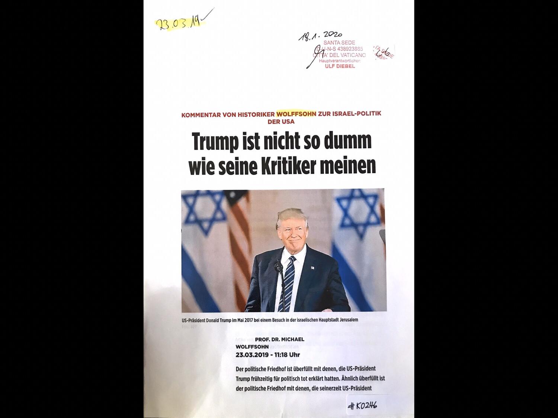 #K0246 l Bild - Trump ist nicht so dumm wie seine Kritiker meinen