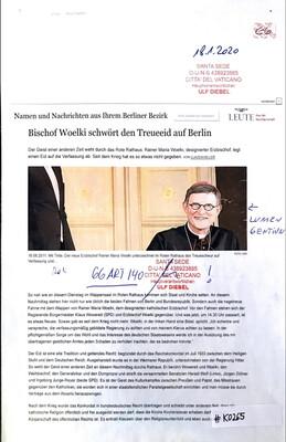 #K0265 l Bischof Woelki schwört den Treueeid auf Berlin