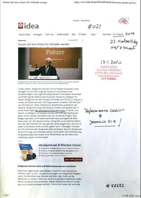 #K0272 l idea - Steinmeier l Glaube darf kein Anlass für Unfrieden werden