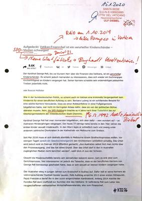 #K0276 l Aufgedeckt - Vatikan-Finanzchef ist ein verurteilter Kinderschänder - SPD-Medien schweigen