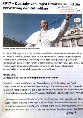 #K0278 l 2017 - Das Jahr von Papst Franziskus und die Verwirrung der Katholiken