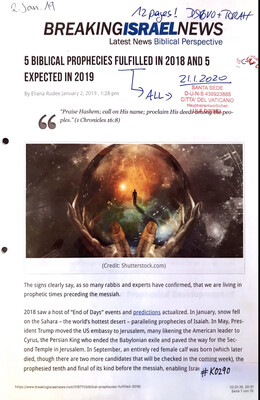 #K0290 l Breaking Israel News - 5 Biblical Prophecies fulfilled in 2018 and 5 expected in 2019