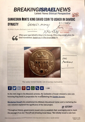 #K0300 l Breaking Israel News - Sanhedrin mints King David coin to usher in Davidic  Dynasty