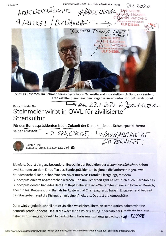 #K0308 l Steinmeier wirbt in OWL für zivilisierte Streitkultur