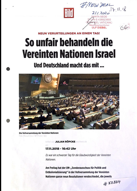 #K0334 l Bild - Neun Verurteilungen an einem Tag! So unfair behandeln die Vereinten Nationen Israel - Und Deutschland macht das mit ...